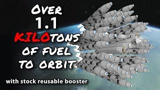 KSP Over a Kiloton to Kerbin Orbit with stock parts - Ep 60 - Kerbal Space Program - Marcus House