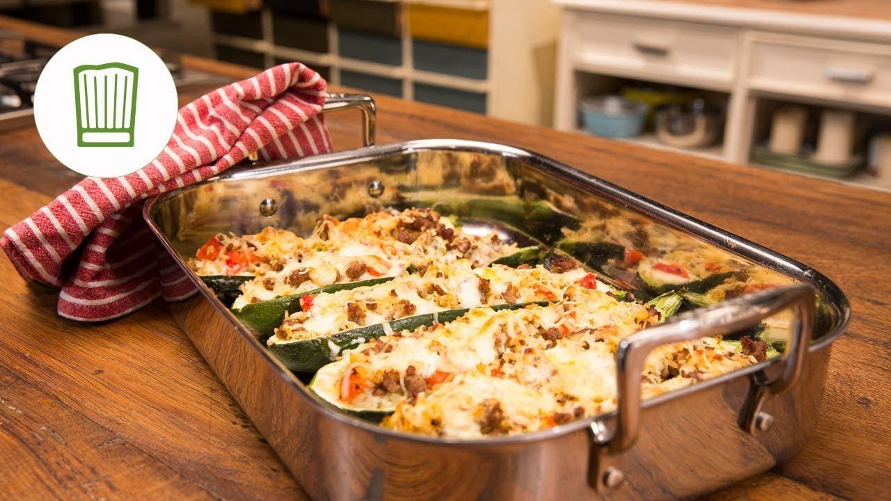 zucchini hackfleisch auflauf aus dem ofen youtube. Black Bedroom Furniture Sets. Home Design Ideas