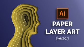 how to create a realistic papper cut effect using the mesh tool in Adobe Illustrator CC
