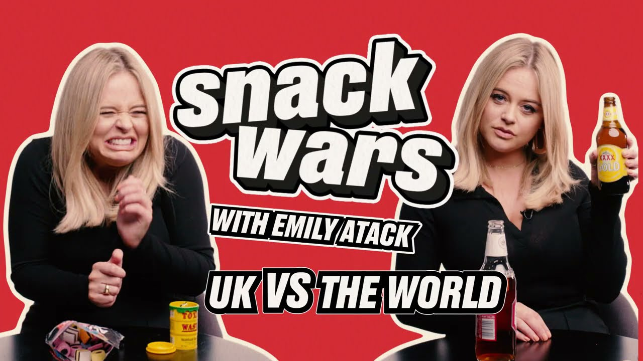 Emily Atack Gets Grossed Out By Snacks From Around The World | Snack Wars | @LADbible TV