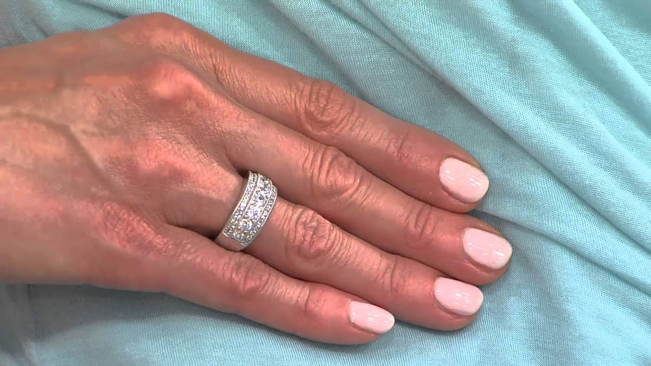 Diamonique Simulated Diamond Band Ring by Epiphany with Jill Bauer ...