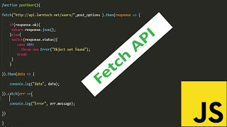 JavaScript Fetch API Tutorial || JavaScript Fetch JSON Data From API
