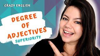 16ª aula de ingls grau dos adjetivos comparativo de superioridade degree of adjectives