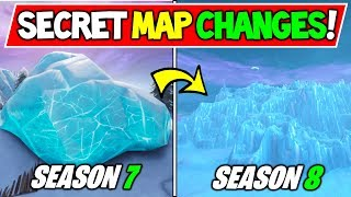 "*NEW* FORTNITE SECRET MAP CHANGES! - SEASON 8 LEAKED? ""ICE CRACKS!"" + Fortnite Storyline Season 7"