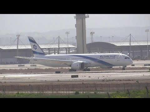 EL AL Boeing 787-9 Dreamliner 4X-EDC Landing for the first time in Ben Gurion Airport
