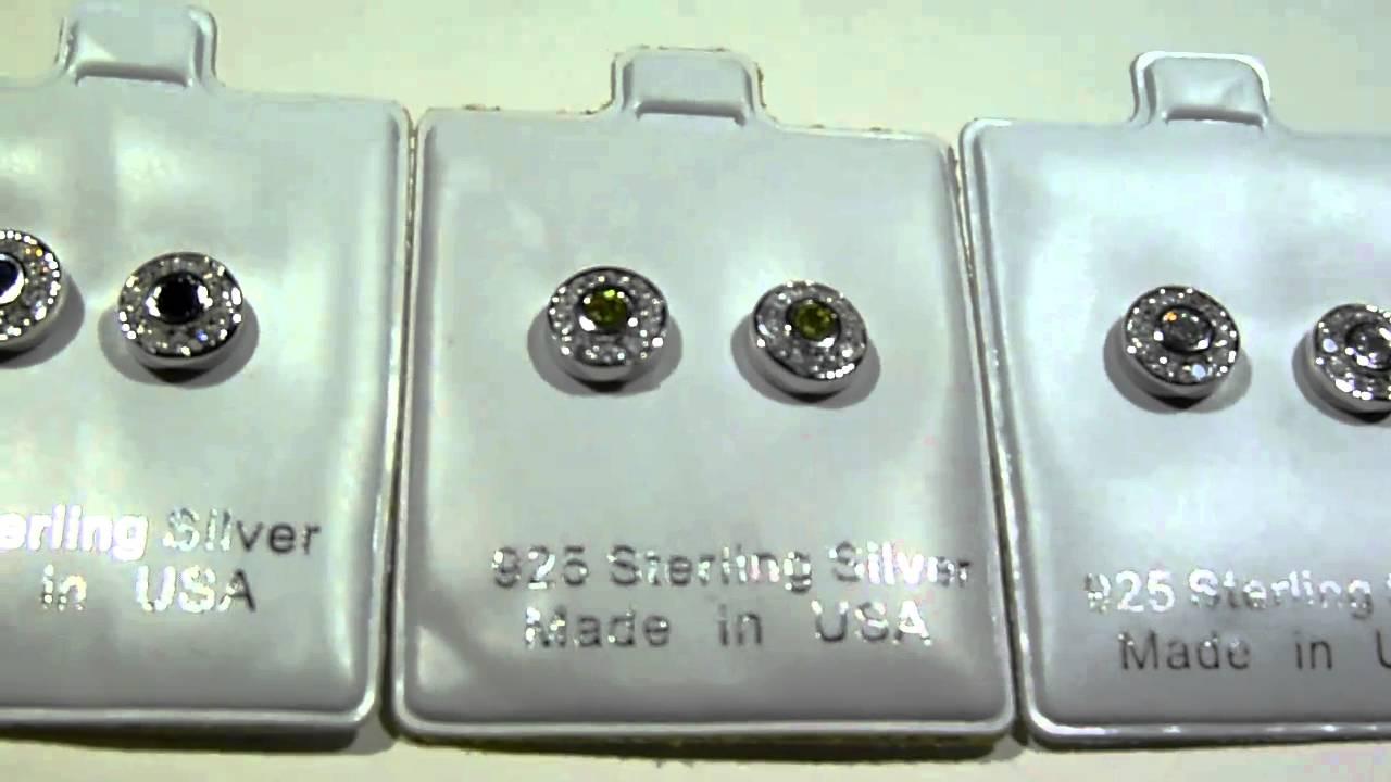 "CUSTOM ""925 Silver"" Jewelry -$35- Lab Made Diamond Cluster ..."