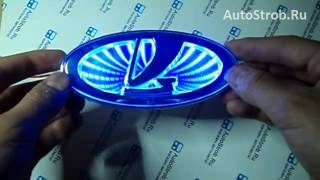 3D светящийся логотип лада обзор