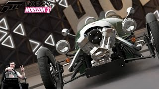 Невероятный Morgan 3 Wheeler с Logitech G Car Pack - Forza Horizon 3 на руле Fanatec CSL Elite