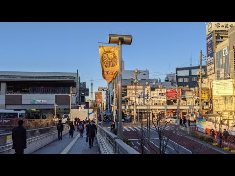 4K Tokyo|Oimachi-walking in