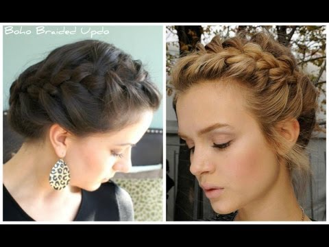 Boho Braided Updo Tutorial