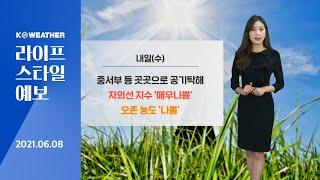 [날씨] 6월 8일_내일(수) 오늘보다 더워…자외선 지…