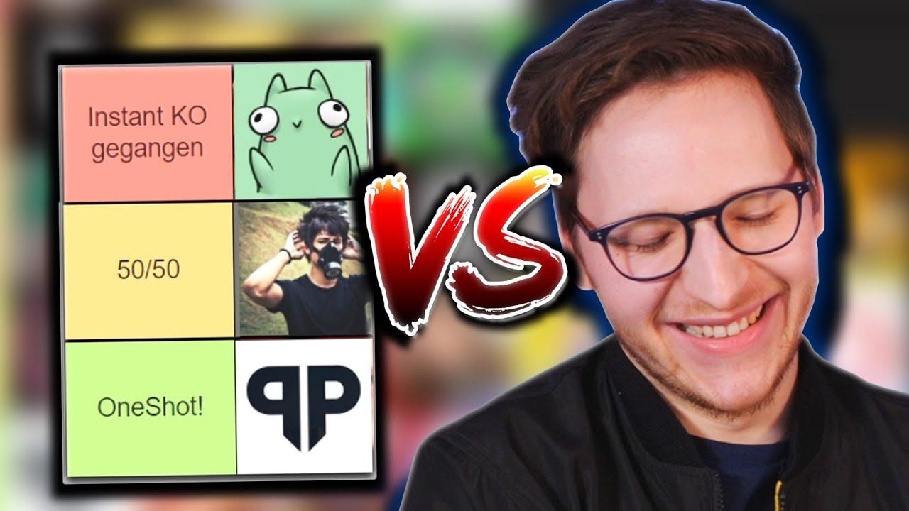 Welche YouTuber/Streamer kann ich im 1VS1 besiegen?!