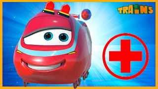My Red Ambulance Helps The Animals ( +1 hour My Magic Train kids videos compilation)