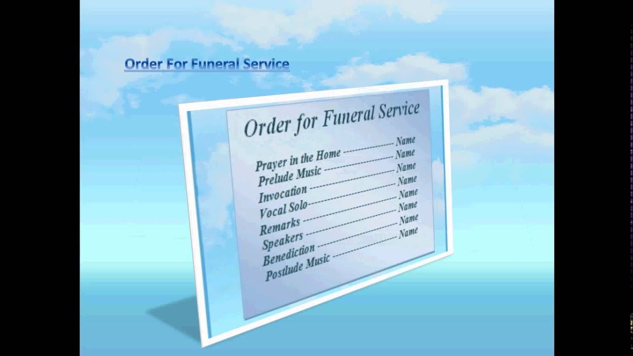 Blue sky background free funeral program template for word for Free funeral program template download 2010