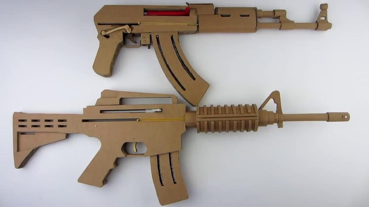 Картинки оружие из картона