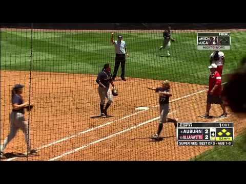Auburn Softball vs Louisiana-Lafayette Game 2 Highlights