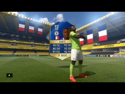 OMG 92 TOTS KANTE IN A FREE PACK! FIFA 17 BPL TOTS PACK ...