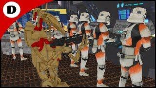 BATTLE DROID AMBUSH IN ANCIENT FACTORY! - Men of War: Star Wars Mod
