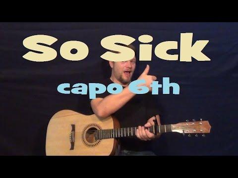 So Sick (Ne-Yo) Easy Strum Guitar Lesson - Licks How to Play Capo ...