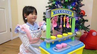 アイス屋さんごっこ お買い物ごっこ お店屋さんごっこ おゆうぎ こうくんねみちゃん ice cream shop pretend play food toys