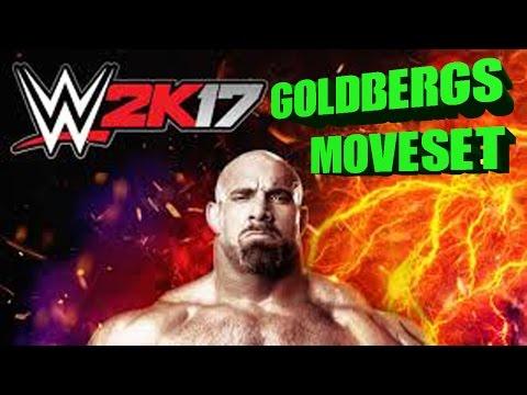 WWE 2K17 - GOLDBERG'S MOVESET