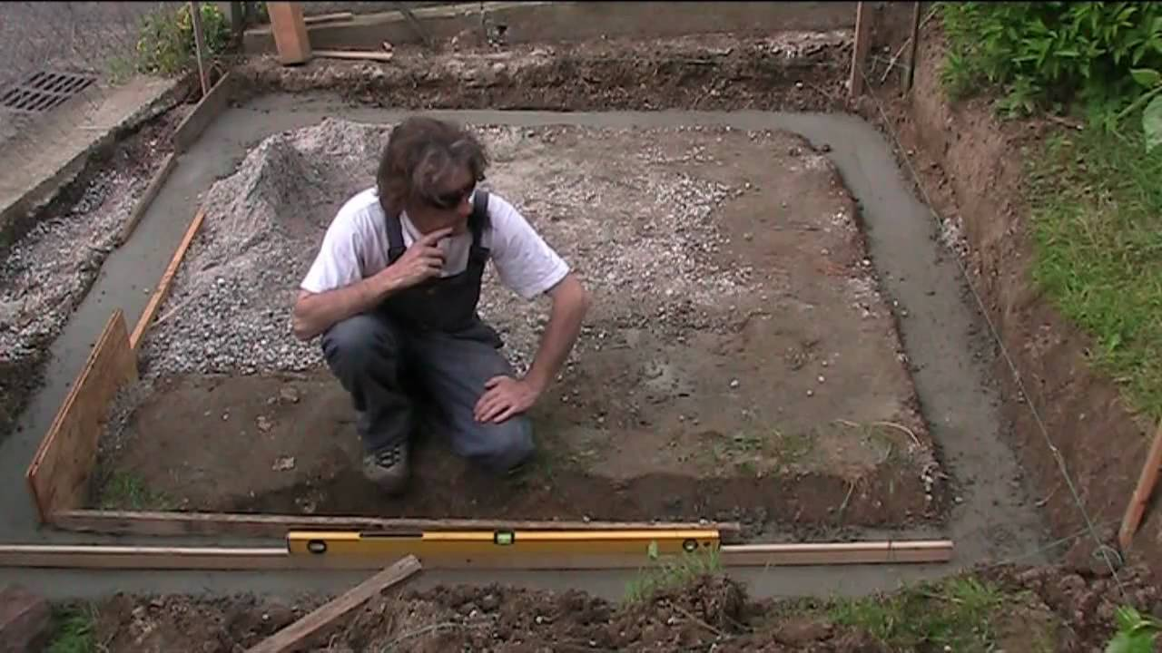 Building A Greenhouse Foundations Youtube