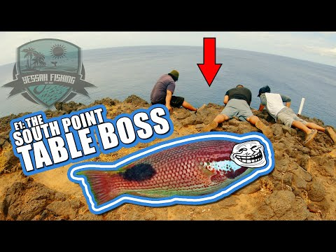 South Point Big Island Fishing - The South Point Table Boss (Hawaii Fishing)