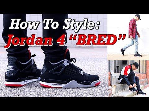 jordan 4 bred fashion