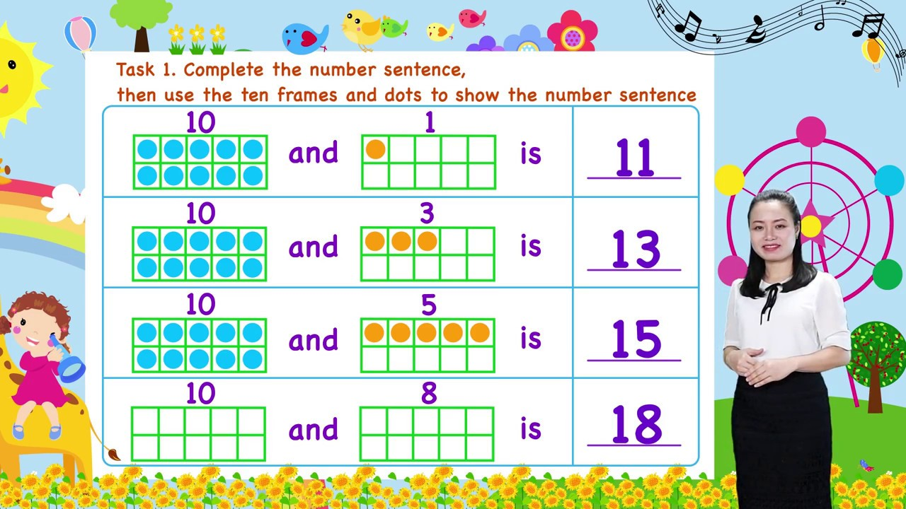 Math For Kids - Lesson 19. Composing Teen Numbers for kids | Kindergarten image