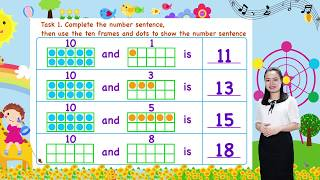 Math For Kids - Lesson 19. Composing Teen Numbers for kids   Kindergarten