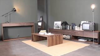 4 Living Presents The  Nordic Contemporary Walnut Console Table