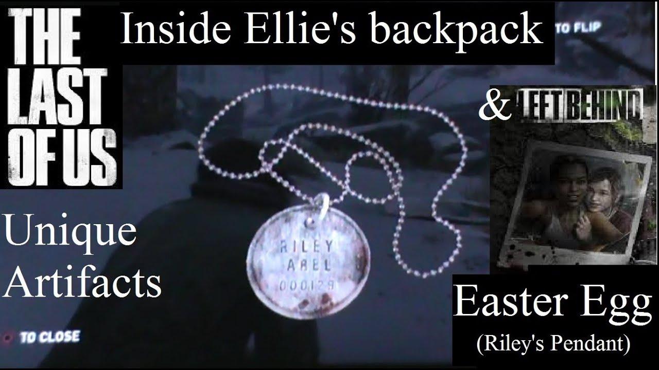 The last of us inside ellies backpack left behind easter egg the last of us inside ellies backpack left behind easter egg youtube mozeypictures Images