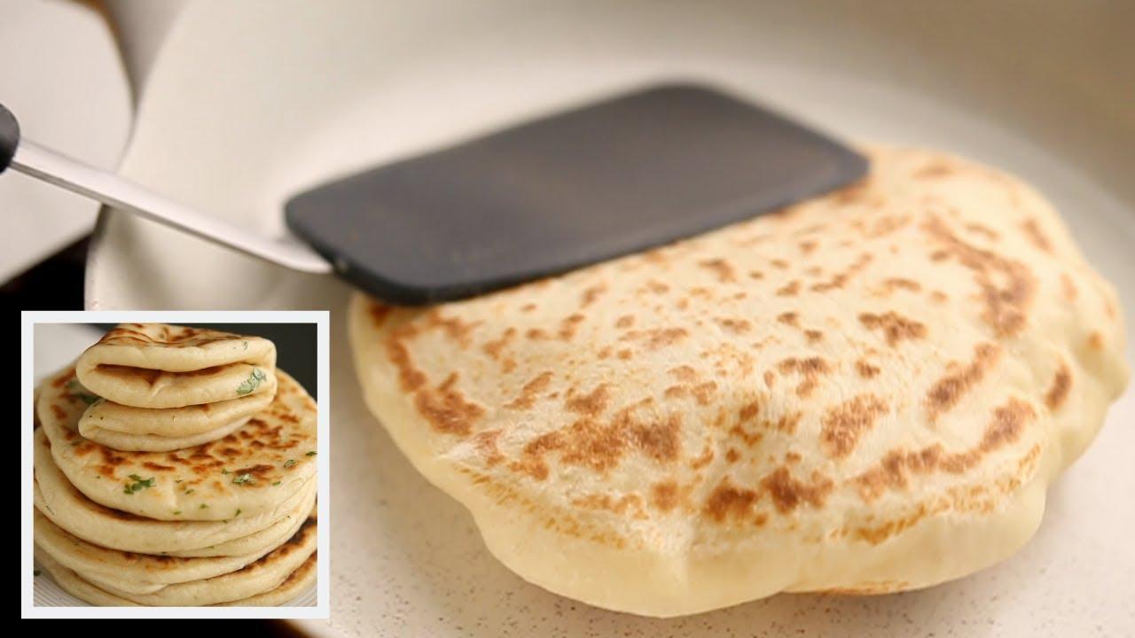 الخبز العربي بدون فرن وإزاي ينتفخ بسهولة!