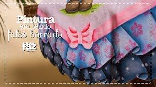 Pintura em tecido – Falso Barrado – Adriana Vit