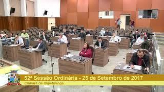 52ª Sessão Ordinária 2017