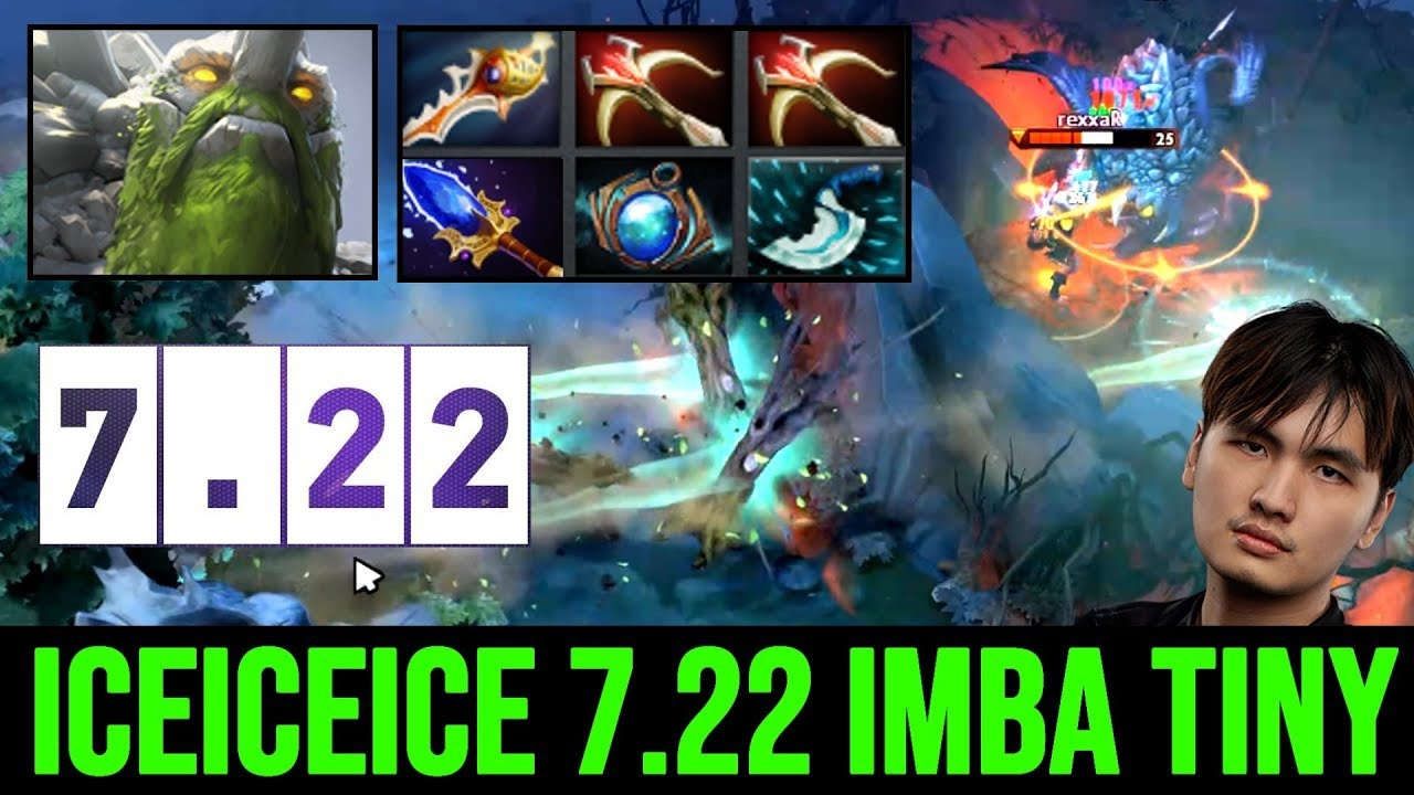7 22 Most Op Hero Iceiceice Tiny Scepter Imba Damage With Divine Rapier Build Dota 2 Youtube