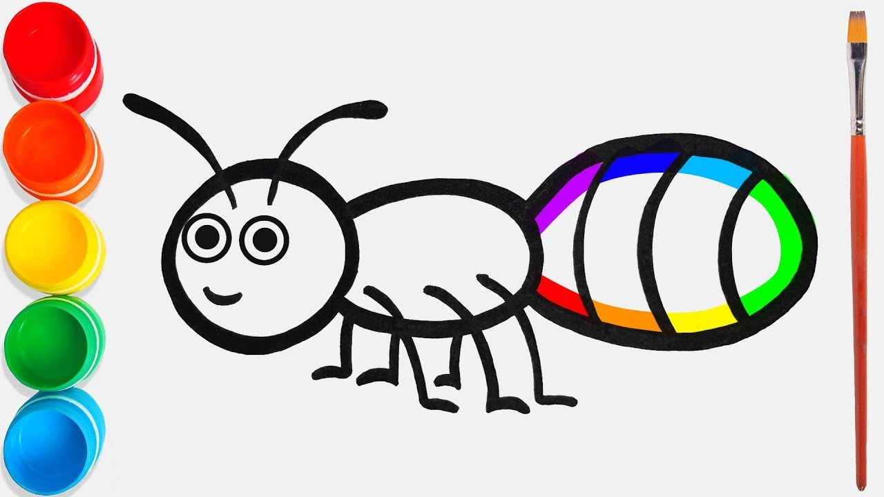 Fourmi Dessin Et Coloriage Pour Les Enfants 24 Comptines Et Chansons à Bébé Chanson