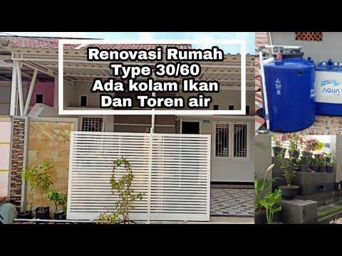 Renovasi Rumah Subsidi Type 30 60 Ini Terlihat Luas Ll Ada Kolam Ikan Ada Torrent Air Ll Youtube