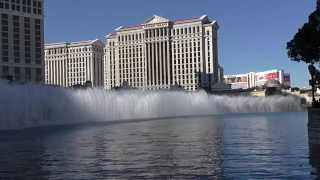 Bellagio Fountains.  Time To Say Goodbye. HD