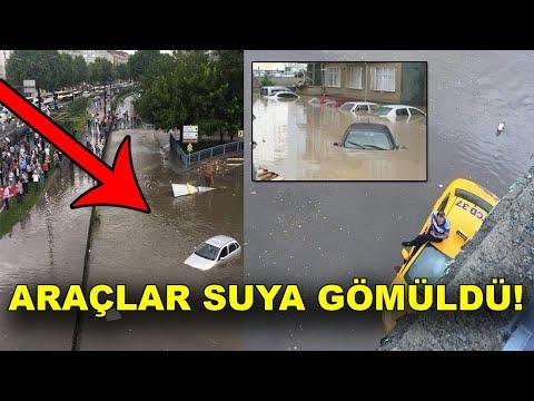 İstanbul'da Sel Baskını! Araçlar Suyun Altında Kaldı...