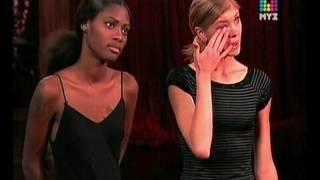 Тайра Бэнкс впервые кричит. Топ модель по-американски 4 сезон. Секс девушки