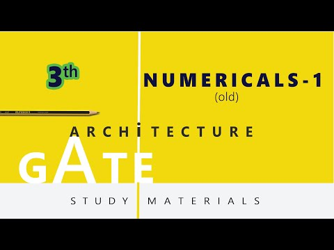 Architecture Gate study material 1