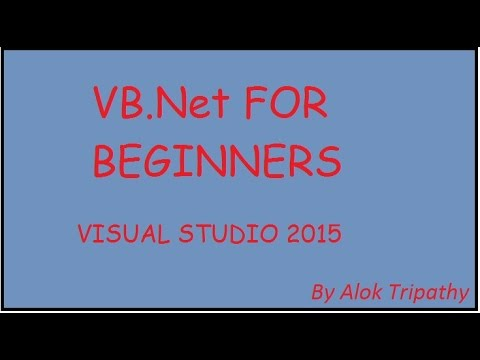 How to create a new project with VB.net in hindi