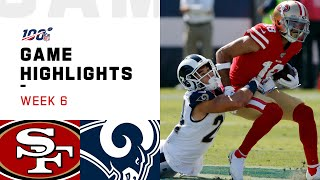 49ers vs. Rams Week 6 Highlights | NFL 2019