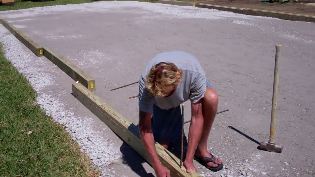 bocce ball court wood installation youtube