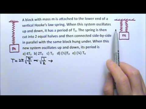 AP Physics 1: SHM 11: Multiple Choice Questions