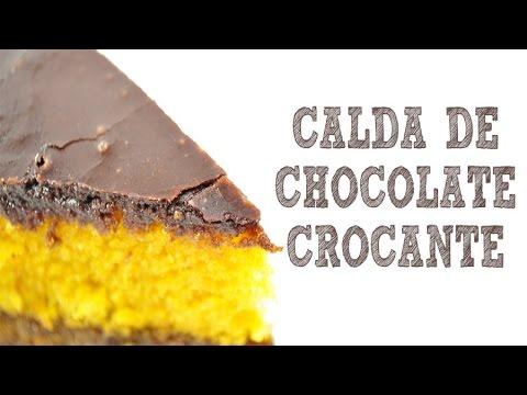 Calda crocante de chocolate para bolo