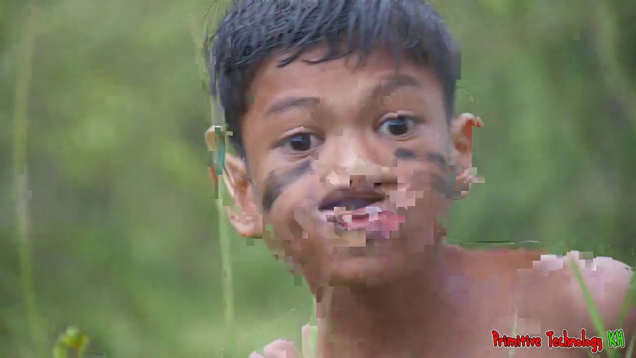 Primitive Technology - Eating delicious - Cooking Hand Octopus On The Rock In Rainforest #166