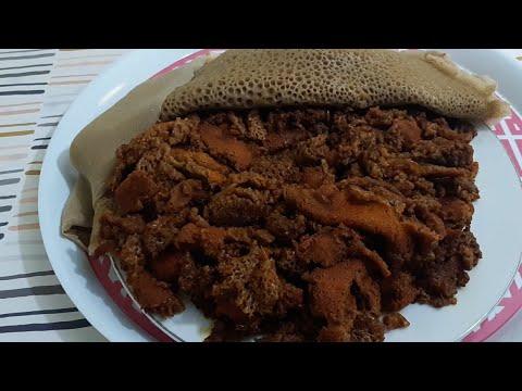 የፍርፍር አሠራር(Ethiopian food Firfir)
