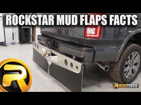 ROCKSTAR Universal Hitch Mounted Mud Flaps Fast Facts